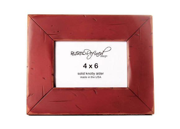 4x6 Cabin picture frame - Barn Red