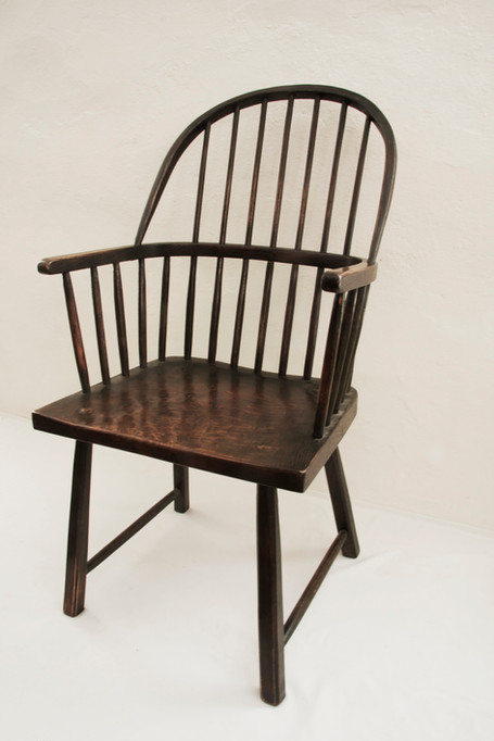 Bow Back Elbow Chair Primitive Style