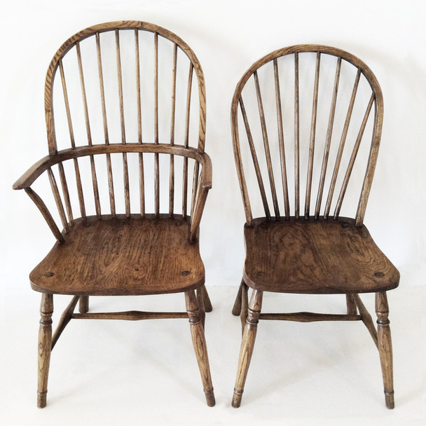 Bow Back Elbow Chair with Bow Back Dining Chair