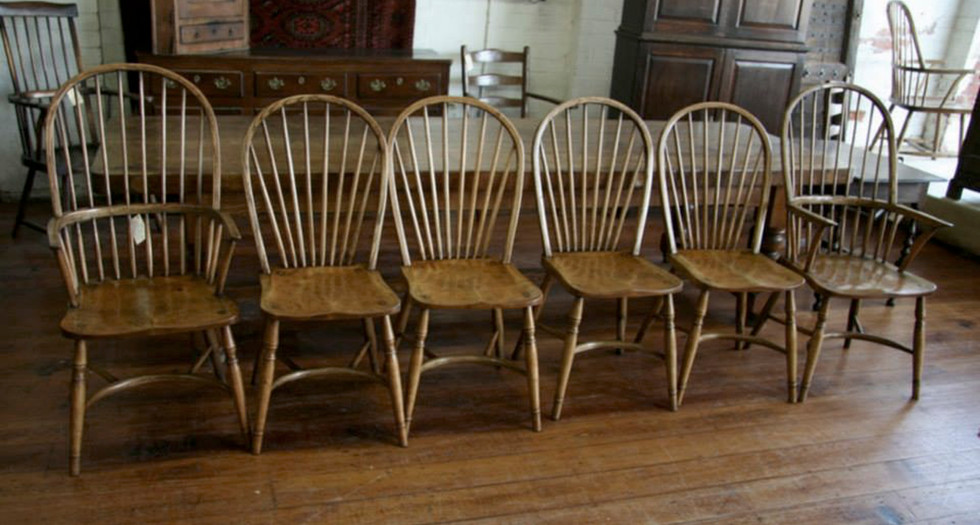 Crinolene Bow Back Elbow Chairs & Dining Chairs