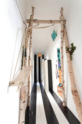 The never ending hallway with a swing which swings into eternity.