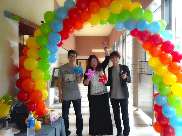 葵青青年節 - 大型氣球柱佈置