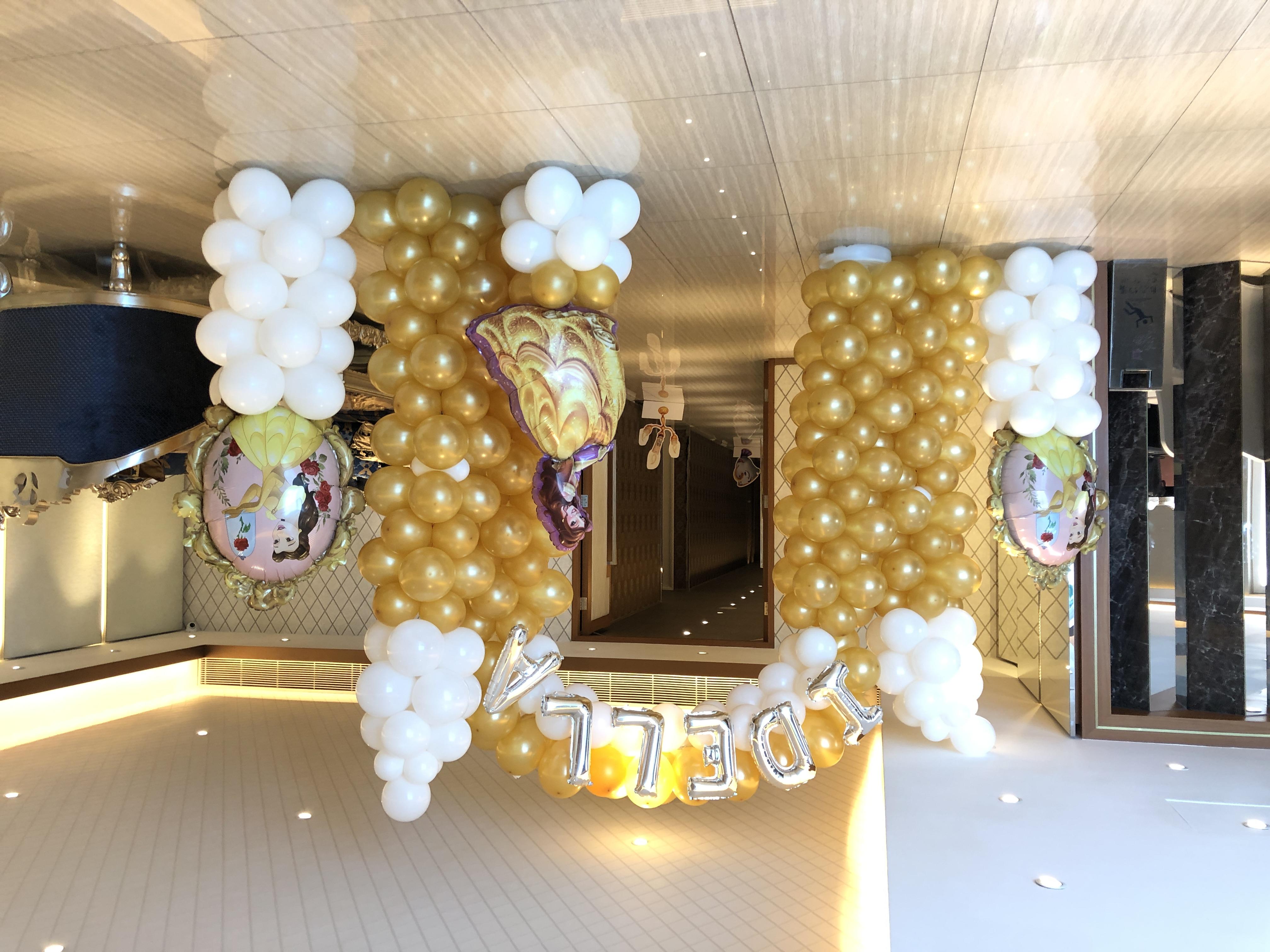 公主城門(兩層)+氣球柱x3+字母 $2600