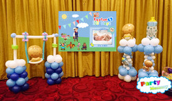 BB韆鞦+氣球柱x2+設計海報 $1800