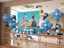 海報+氣球佈置 $600