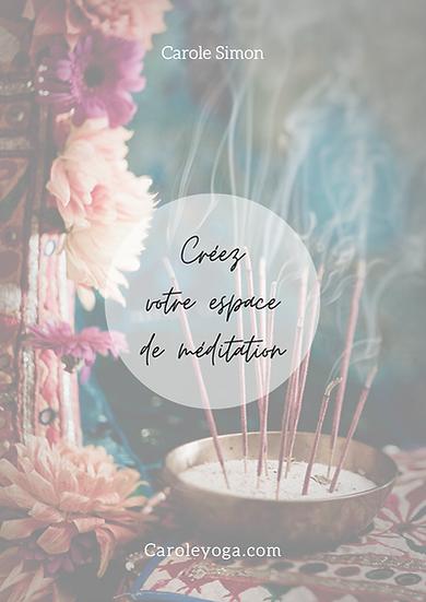 """E-book """"Créez votre espace sacré de méditation"""""""