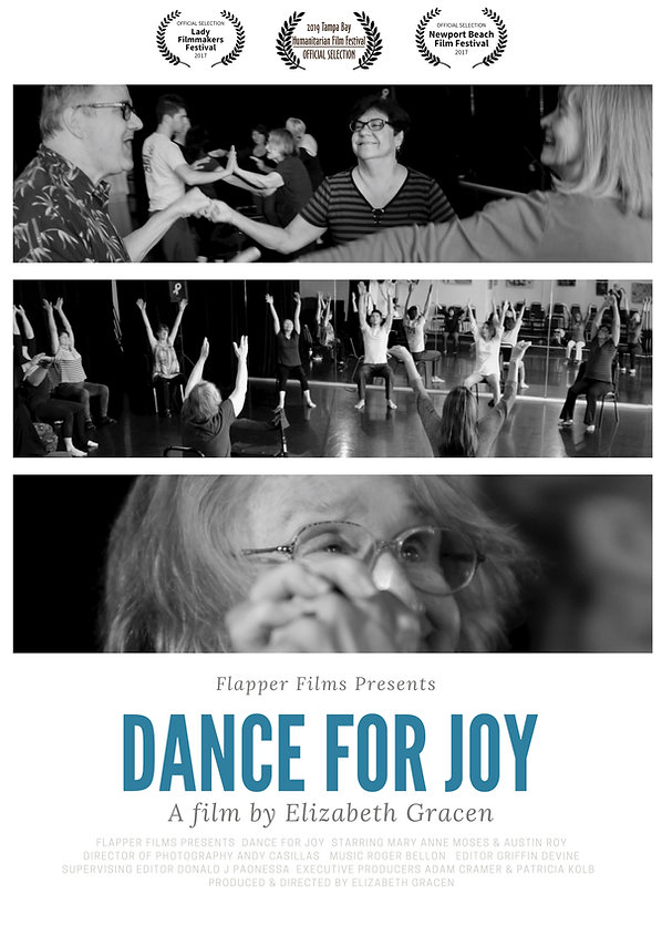 Dance For Joy by Elizabeth Gracen Home Page  | Indie Films, Women In Films, Generation Z, Women Filmmakers, LBGTQ Films| Flapper Films creates and develops educational, informational and inspiring content for multi-generational men and women.