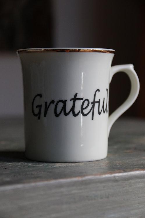 Porcelain Mug 'Grateful'