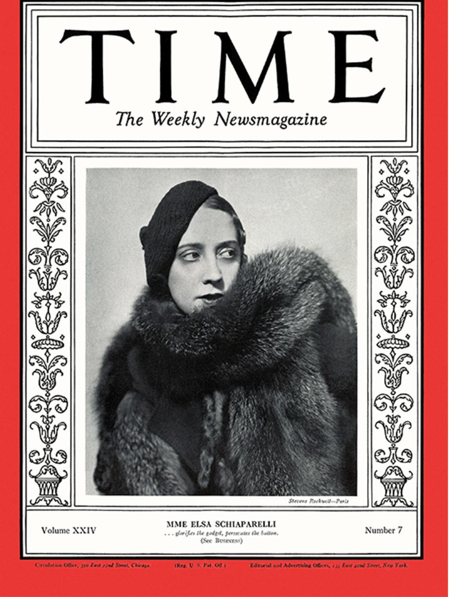 Elsa Schiaparelli on the cover of TIME