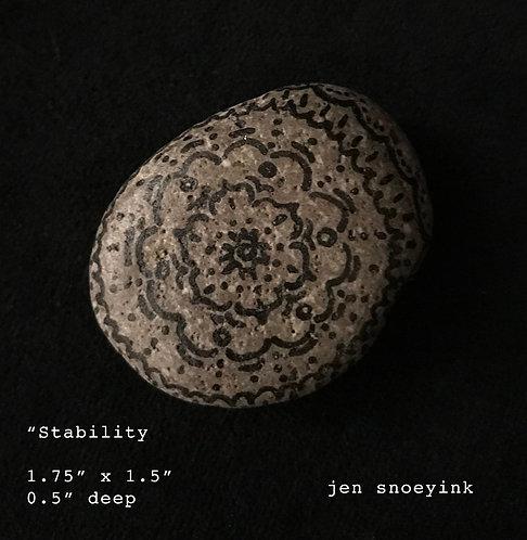 """Stability"" Mandala Meditation Stone"