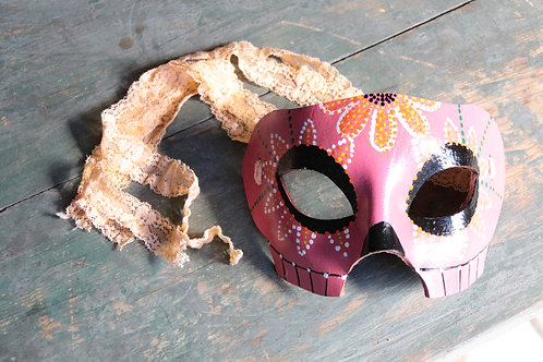 Day of the Dead Mask (Pink)