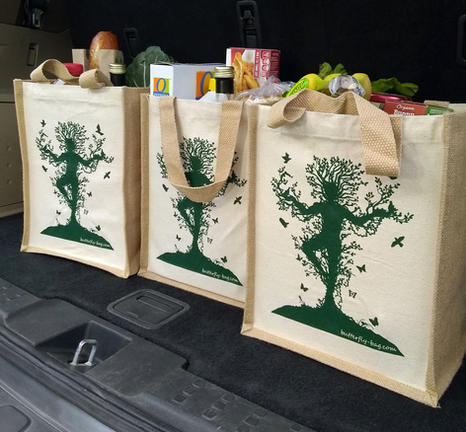 Butterfly Grocery Bags
