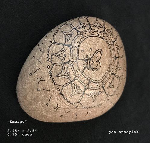 """""""Emerge"""" Mandala Meditation Stone"""