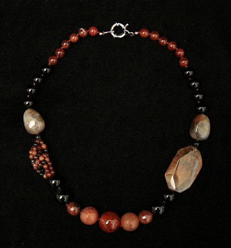 Chunky Carnelian and Agate Necklace