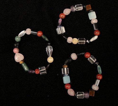 Assorted Stones Bracelet - Dark Mix