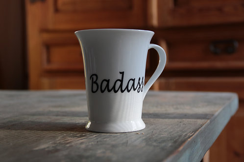 Porcelain Mug #2 (Double Decal Badass/Fearless)