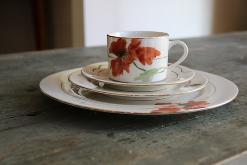 Complete Set Hand Painted Porcelain Dinnerware