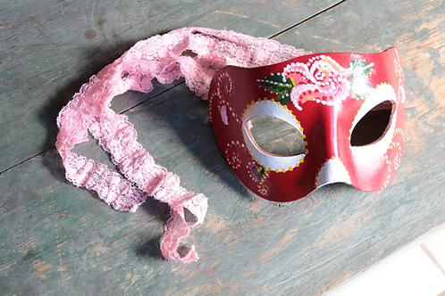 Day of the Dead Mask (Pink & Red)