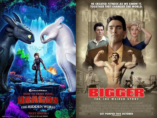 YIN/YANG REVIEWS: How to Train Your Dragon: The Hidden World / Bigger: The Joe Weider Story
