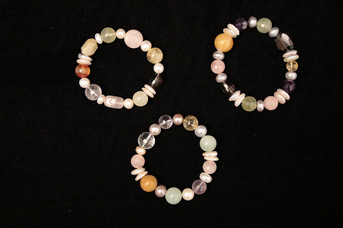 Assorted Stone Bracelet - Light Mix