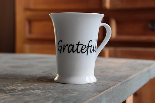 Porcelain Mug #3 (Double Decal Grateful/Warrior)