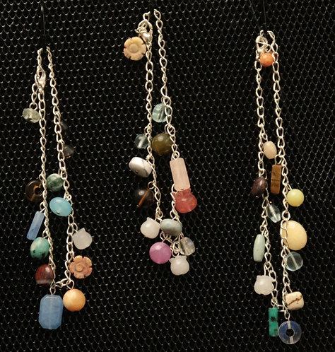 Assorted Stone Charm Bracelet