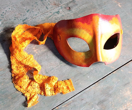 Masquerade Fire Mask (Orange & Yellow)