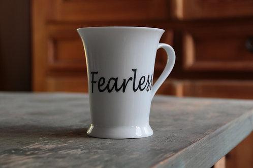 Porcelain Mug #4 (Double Decal Fearless/Positivity)