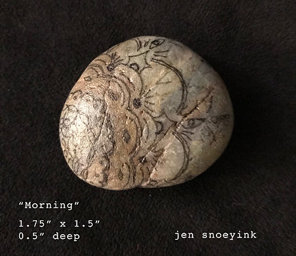 """Morning"" Mandala Meditation Stone"