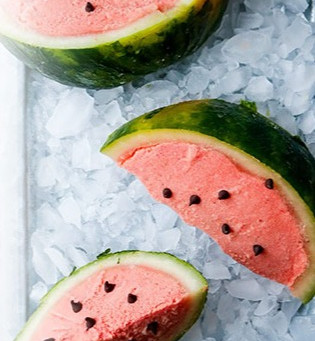 Iced Watermelon with Chocolate Chips