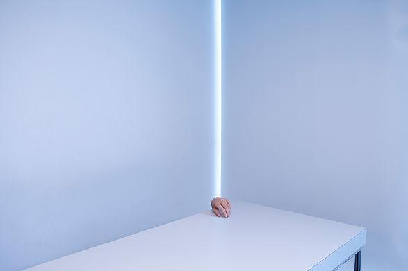 left hand studio table white light studio