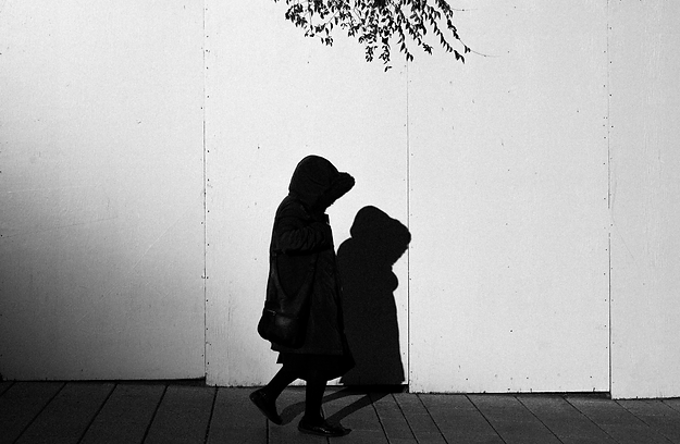 babayaga film russia street photo black and white walking alone
