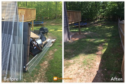 Before & After of junk clean up
