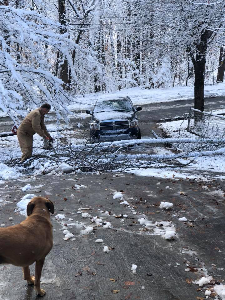 Post-snow day clean up
