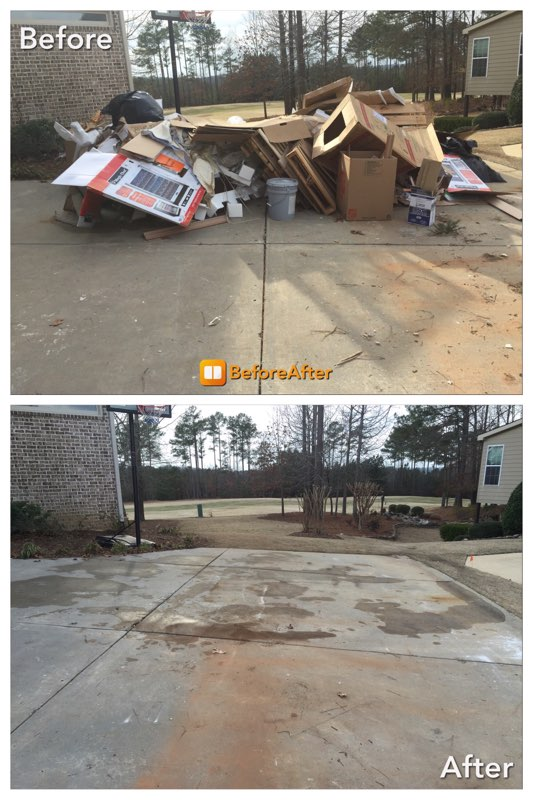 Before & After construction debris