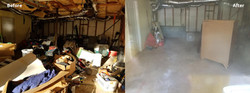 Before & After of basement cleanout
