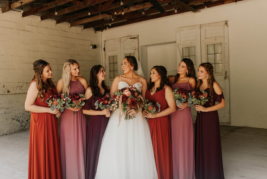 Bridemaids in Veranda