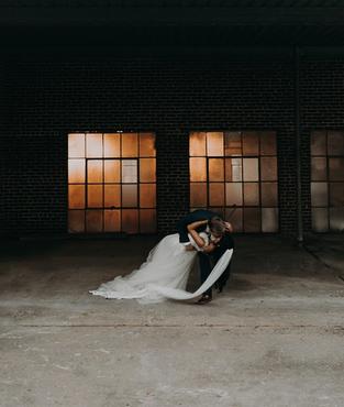 Bride And Groom at the Brick Ballroom