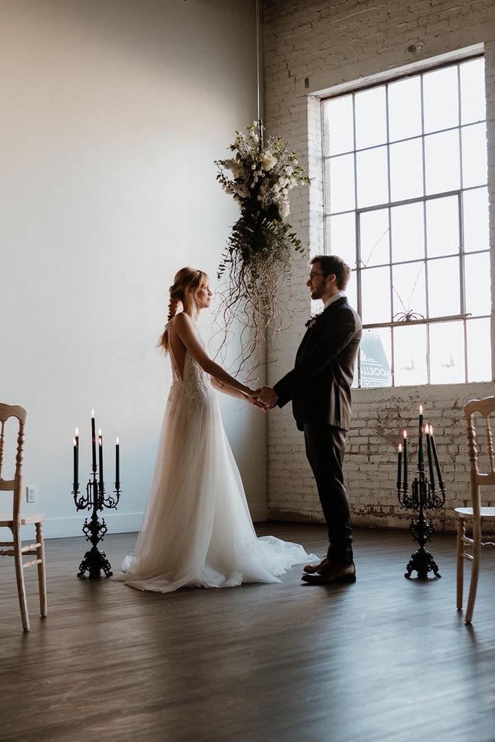 Bride and Groom Industrial wedding