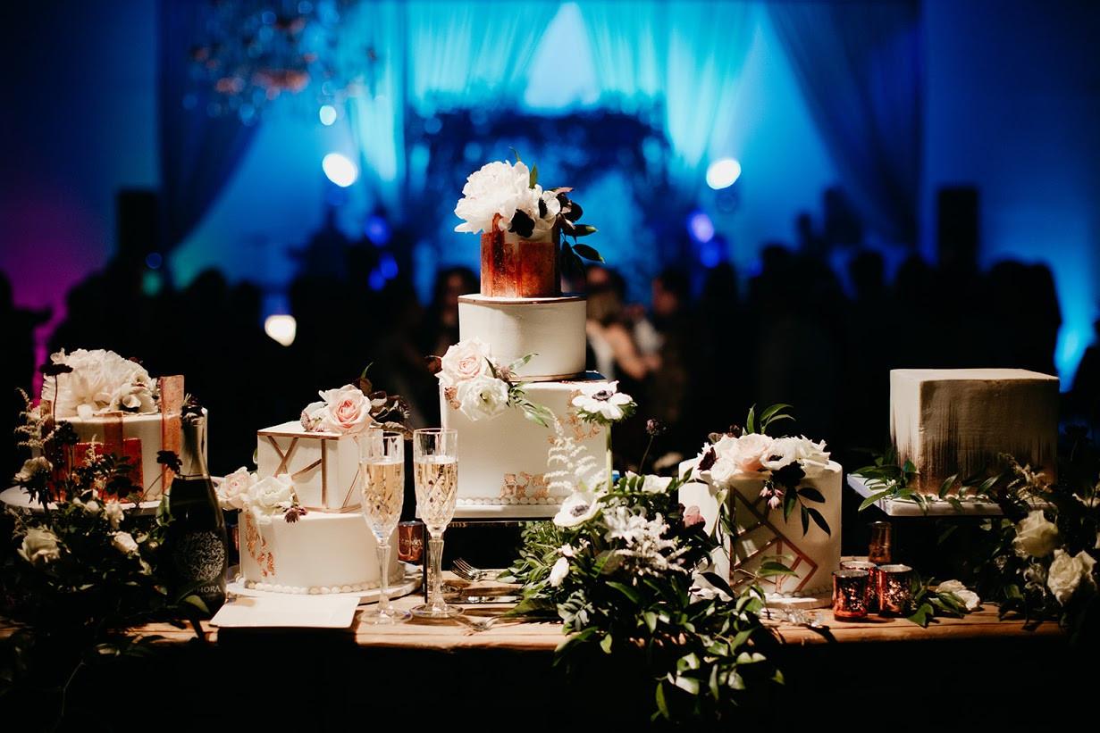 Wedding Cake at Brick Ballroom