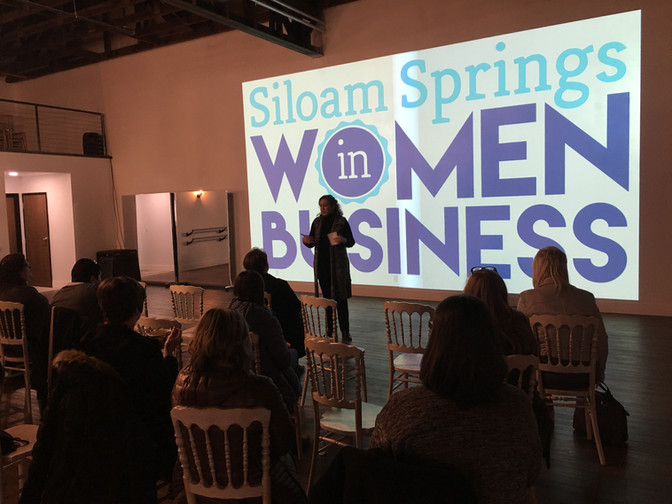We hostedSiloam Springs Women in Business Mtg.