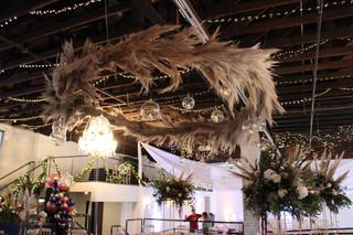 Wreath hanging for Wedding Reception