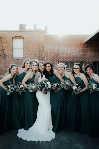 Bridal Party outside the Brick Ballroom