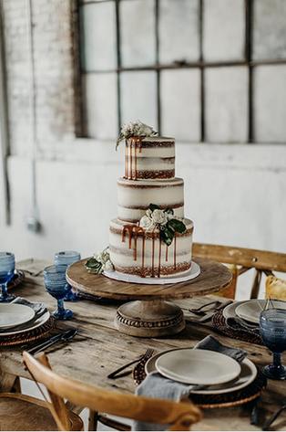 Wedding Cake in the Brick Ballroom