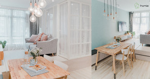 《設計案例》大地色系和暖木質感,陽光洋溢的開放式家居小空間