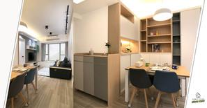 《設計案例》色彩的應用塑造出簡約清新又流露溫情的430呎幸福小家居