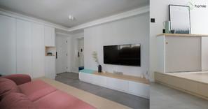 《設計案例》483平方呎也可以打造一家4口和3隻寵物最舒服的生活空間