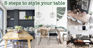 5 steps to style your table – 讓家居拍出不一樣的感覺