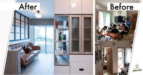 【室內設計作品】家庭添加了新成員,4百呎家居大變身,一房變兩房!