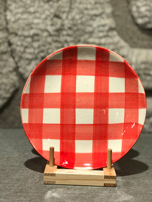 Side plate pattern red